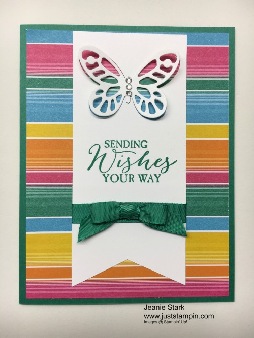Stampin Up Butterfly Basics birthday card idea - Jeanie Stark StampinUp