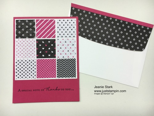 Stampin Up Floral Phrases Quilt card idea - Jeanie Stark StampinU