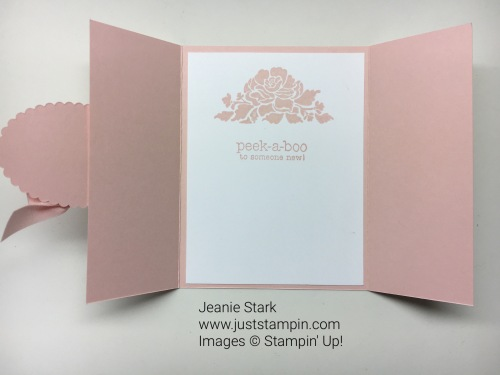 Stampin Up Suite Sayings and Floral Phrases Gate Fold baby card idea - Jeanie Stark StampinUp