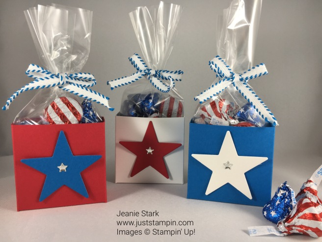 Stampin Up candy treat holder. Quick & Simple treat box. For directions and more visit juststampin.com