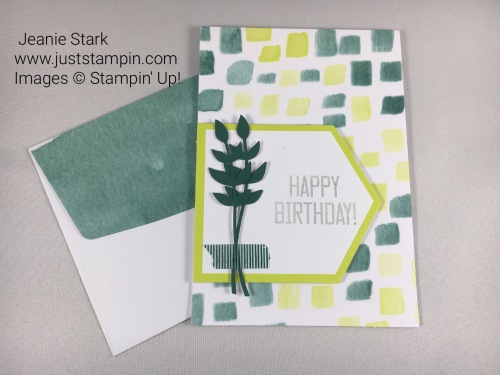 Birthday card from Stampin Up Soft Sayings Card kit. For inspiration, classes, and supplies visit www.juststampin.com