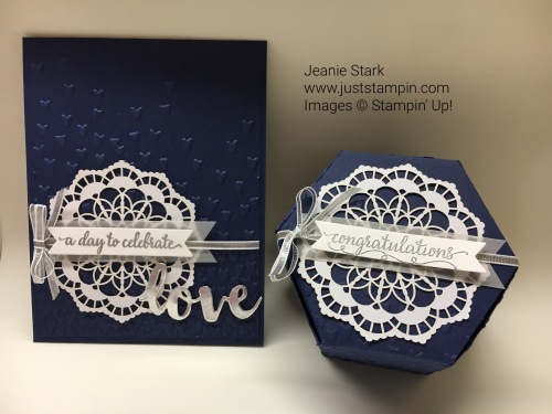Stampin Up Window Box Thinlits and wedding card idea - Jeanie Stark StampinUp