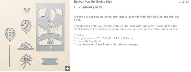 Balloon Pop Up thinlits dies