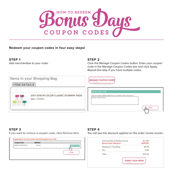 bonus days coupons