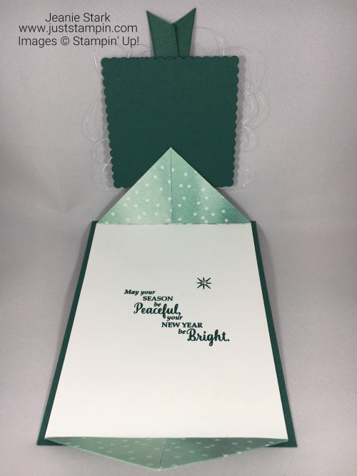 Stampin Up Star of Light fun fold Christmas card idea - Jeanie Stark StampinUp