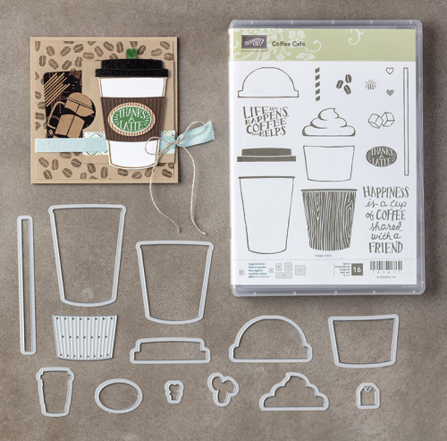 Coffee Cafe Bundle by Stampin Up. For ideas and more visit www.juststampin.com. You can SAVE 10%!