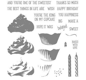sweet cupcake stamp set
