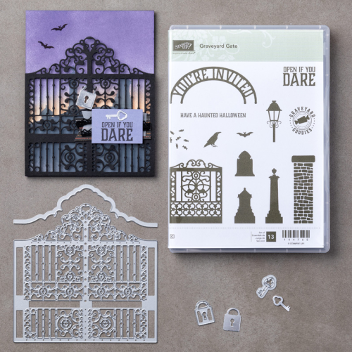 Stampin Up Graveyard Gate Bundle & card Idea - Jeanie Stark StampinUp