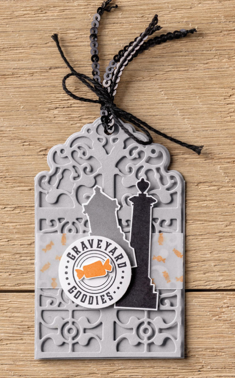 Stampin Up Graveyard Gate Tag Idea - Jeanie Stark StampinUp