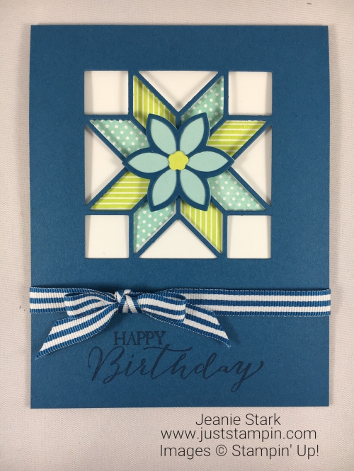 Stampin Up Christmas Quilt and Butterfly Basics Birthday card idea - Jeanie Stark StampinUp