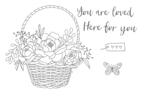 Blossoming Basket Stamp Set