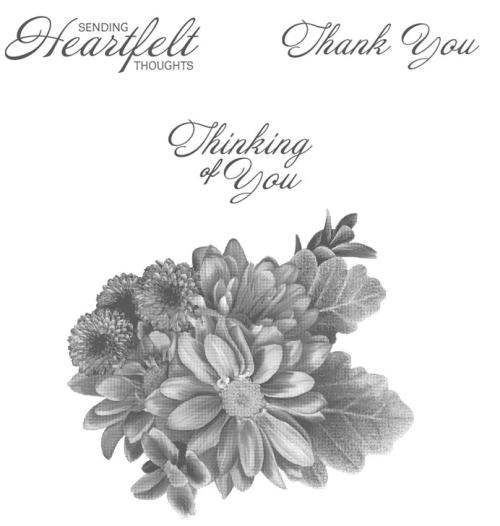 Heartfelt Blooms stamp set
