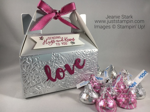 Stampin Up Mini Gable Box Valentine treat idea - Jeanie Stark StampinUp