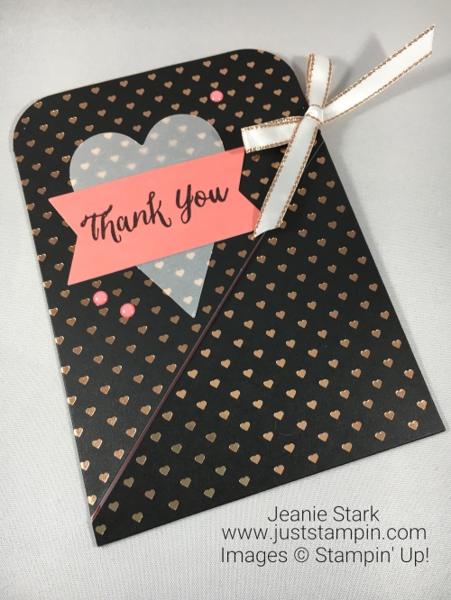 Paper Pumpkin Alternative Thank You card idea using Heartfelt Love Notes - Jeanie Stark Stampin Up