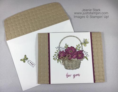 Stampin Up Blossoming Basket Bundle card idea - Jeanie Stark StampinUp