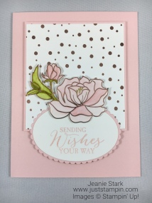 Stampin Up Butterfly Basics stamp set and Springtime Foils Designer Series Paper Birthday card idea - Jeanie Stark StampinUp