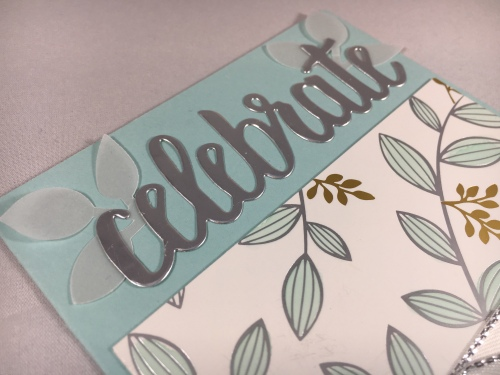 Stampin Up Celebrate You Thinlits and Springtime Foils Specialty Designer Series Paper All Occasion Celebrate card idea - Jeanie Stark StampinUp