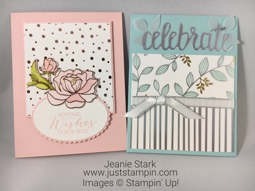 Stampin Up Springtime Foils Specialty Designer Series Paper Birthday card idea - Jeanie Stark StampinUp