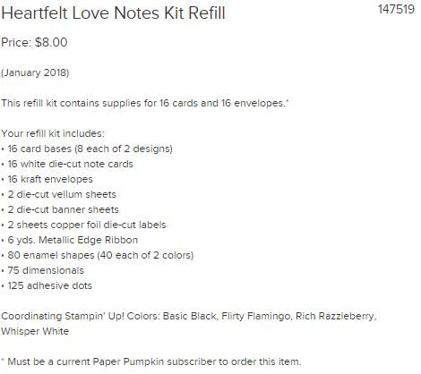 Paper Pumpkin refill kit Jan. 2018
