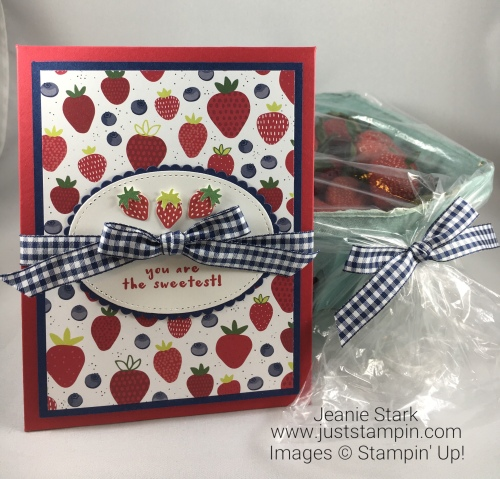 Handmade Pack Basket : I is for itty bitty fruit punch pack just stampin