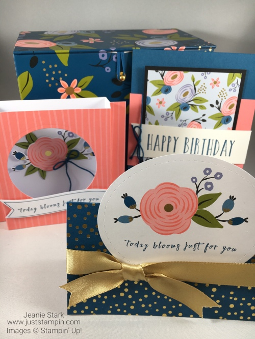 Stampin Up Perennial Birthday Fun Fold Card ideas - Tutorial available! Jeanie Stark StampinUp