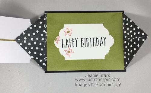 Stampin Up Perennial Birthday Card Kit alternate fun fold birthday card idea - Jeanie Stark StampinUp