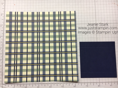 Stampin Up True Gentleman Designer Series Paper to make gift box