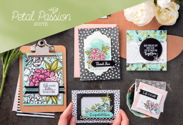 Stampin Up Petal Passion all occasion card ideas for birthday, wedding, thank you, congratulations - Jeanie Stark StampinUp