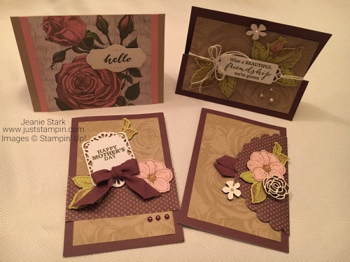 Stampin Up Paper Pumpkin project ideas for March 2018 May Good Things Grow - Jeanie Stark StampinUp