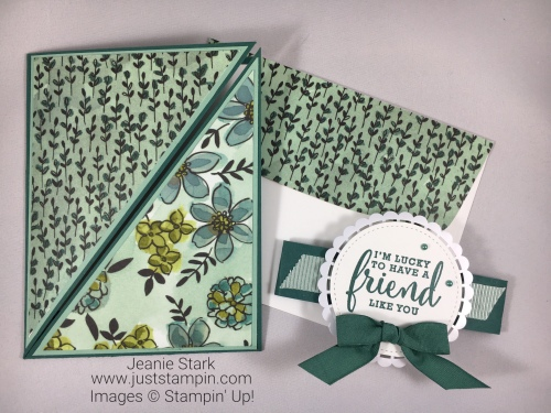 Stampin Up Fun Fold card idea using Share What You Love Suite -Jeanie Stark StampinUp