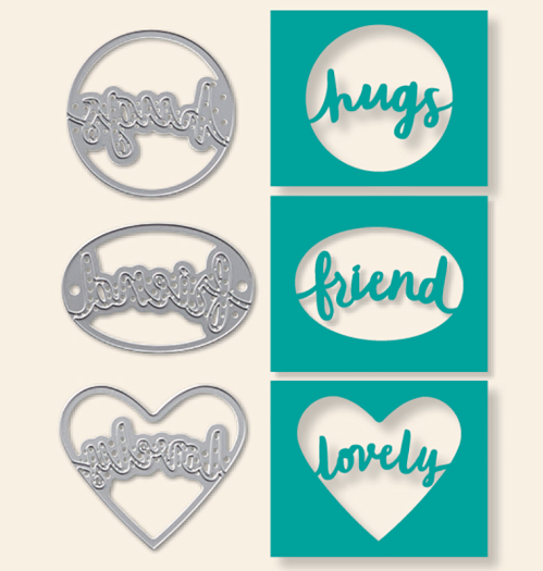 Stampin Up Lovely Words Thinlits - Last Chance Product!-To order visit www.juststampin.com Jeanie Stark StampinUp