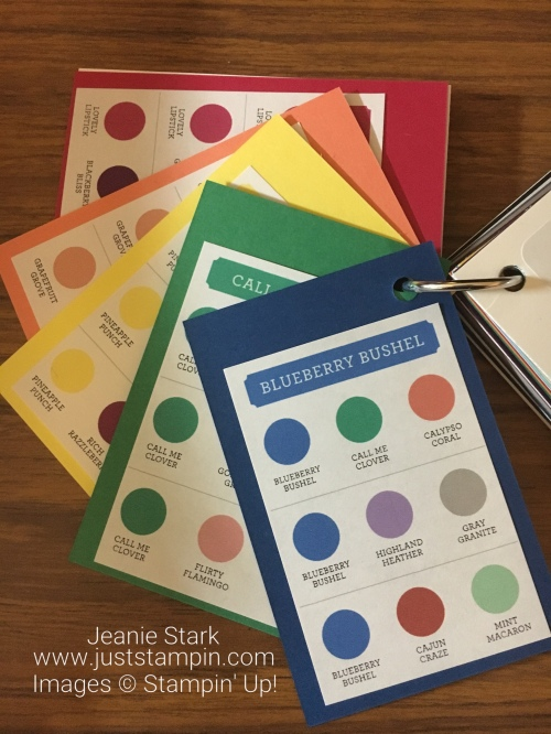 Stampin Up Color Coach and Swatch Book - Available from Jeanie Stark www.juststampin.com StampinUp