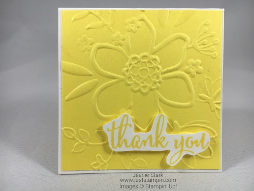 Stampin Up Lovely Floral In Color thank you note card idea - Jeanie Stark StampinUp